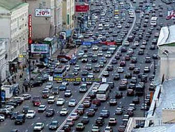 пробки на московских улицах